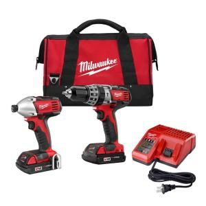 Milwaukee M18 18-Volt Lithium-Ion Cordless Hammer Drill/Impact Driver Combo Kit (2-Tool)-2697-22CT at The Home Depot