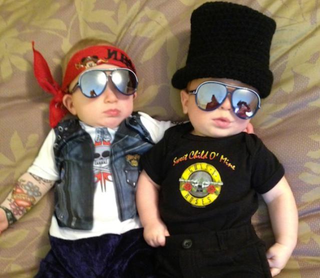 20 Comical Baby Costumes That Won Halloween: Guns N' Roses