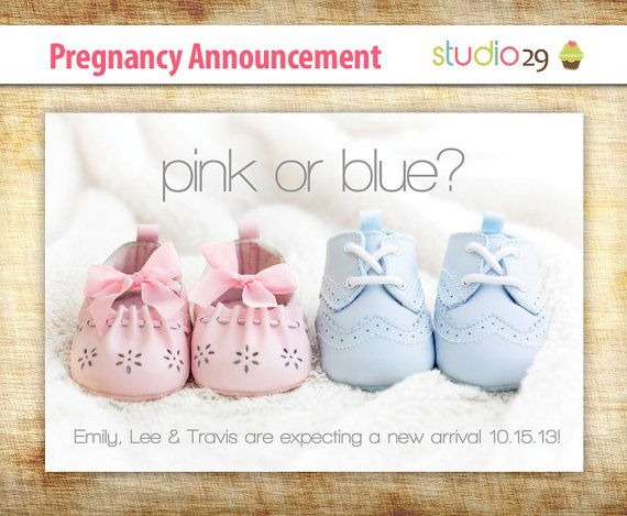 Pregnancy announcement – Baby card – 4×6 were waiting for baby – Prin …   – We're expecting a baby!