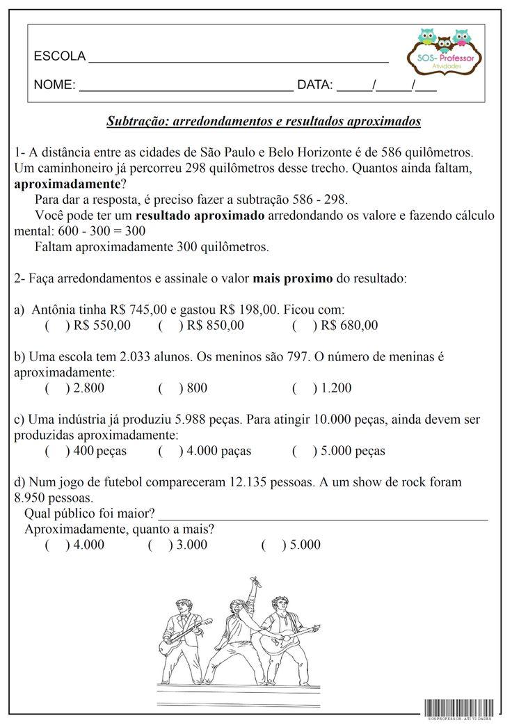 SOS PROFESSOR-ATIVIDADES: Matemática
