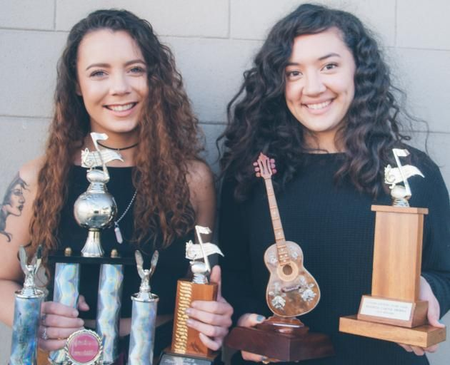 Musical duo Just Us, Teisha Seymour (left) and Karina Murray-Dodd, won the senior overall award in the Balclutha Country Music Club's talent quest at the weekend. Photo by Cyndilu Miller. (scheduled via http://www.tailwindapp.com?utm_source=pinterest&utm_medium=twpin&utm_content=post111712969&utm_campaign=scheduler_attribution)