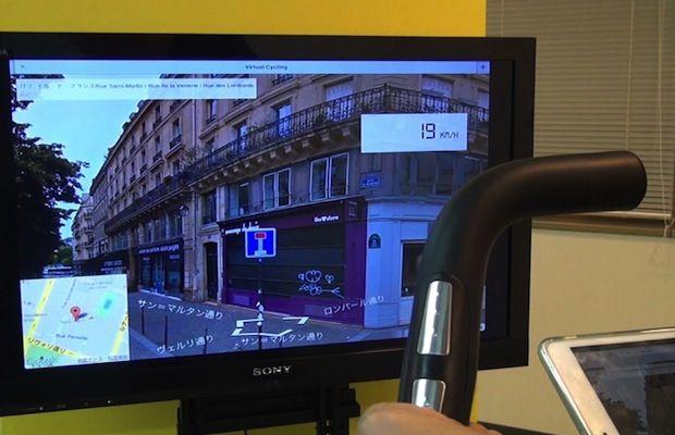 エアロバイクの体験を変える、クラウド連動のフィットネス支援デバイス「Virtual Cycling」が開発中