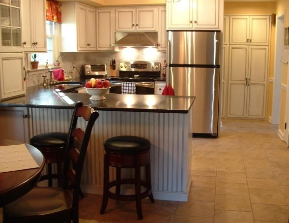 Update to small french country u shape for the home for Small french country kitchen ideas