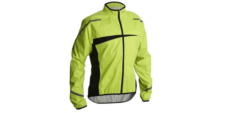 Cycling wind and rain protection - 500 Waterproof Cycling Jacket - Neon Yellow