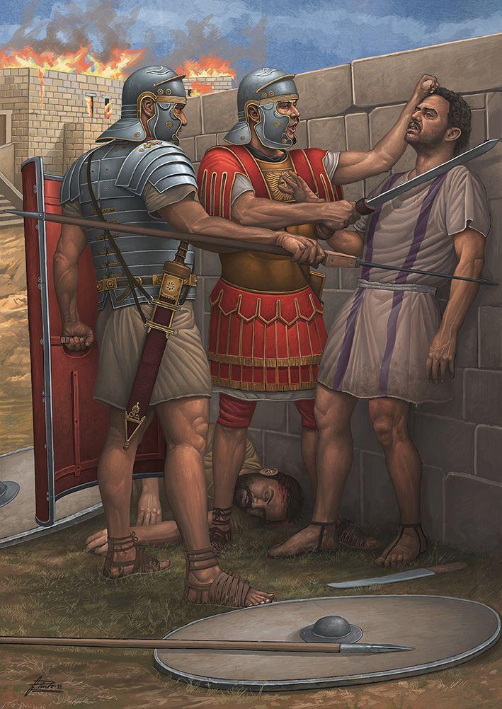 Incident during the Bar Kokhba revolt, 131-135,A.D. - by Ángel García Pinto