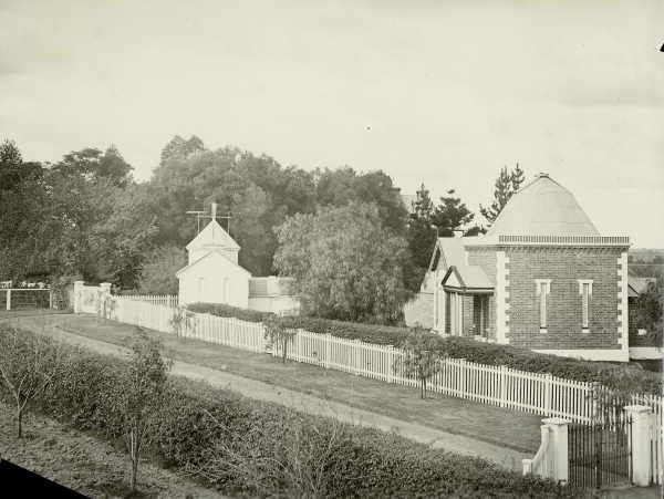 1890s photo of John Tebbutt's Observatory, Windsor, NSW. This is the second (1879) observatory he built on this site. John Tebbutt became one of Australia's notable astronomers, and is most famed for his discovery of two major comets. Windsor had the advantage of clear skies free from smoke to help his observations. His discoveries helped to put Australia on the scientific world map.