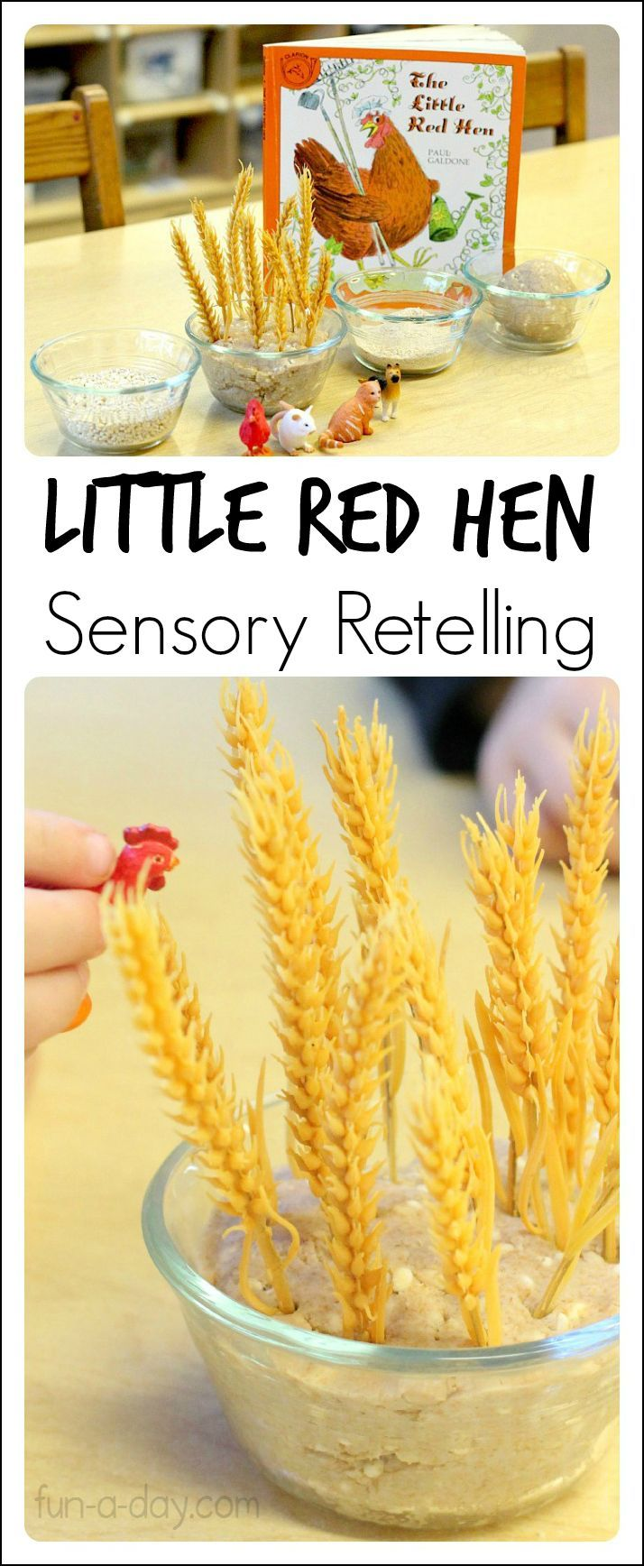 Hands-on retelling of the classic Little Red Hen story!