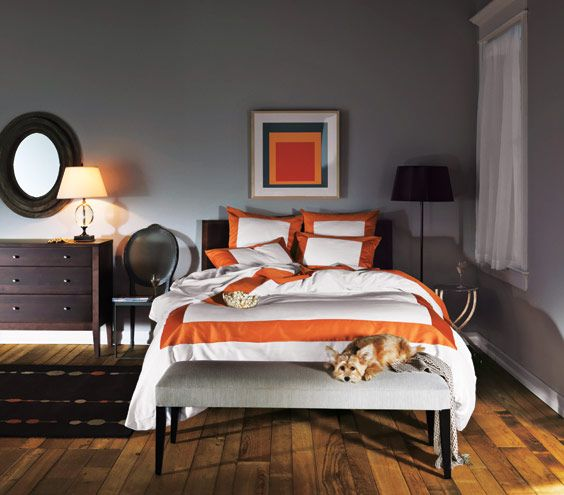 Best 25+ Grey Orange Bedroom Ideas On Pinterest