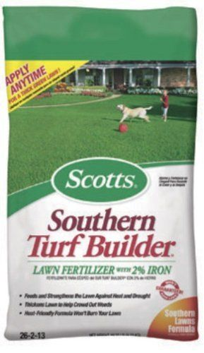 Scotts Lawns 5M Lwn Fertilizer/Iron 23309 Dry Lawn Fertilizer by Scotts. $20.35. Scotts Lawns #23309 5M Lawn Fertilizer/Iron. SCOTTS LAWNS. America's favorite lawn fertilizer for a strong lawn, Water Smart: Improves lawn's ability to absorb water and nutrients, Apply any season to any grass type, Feeds & strengthens lawn against heat, drought & wear & tear, Kid & pet friendly.