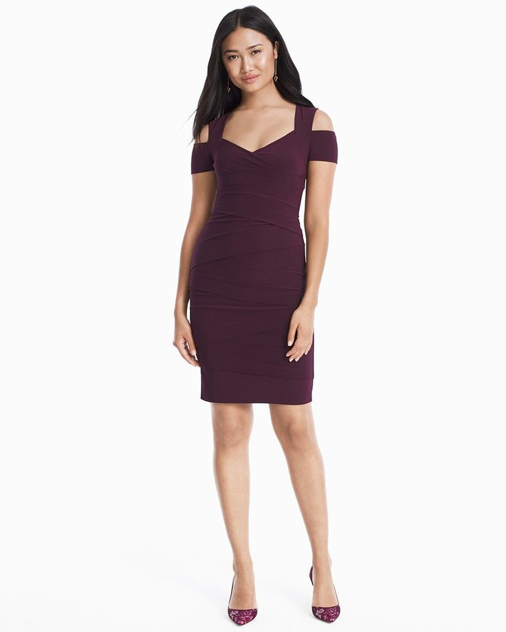 Women's Cold-Shoulder Instantly Slimming Dress by WHBM