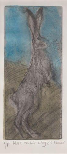 Hare on his way. by Caroline Maas