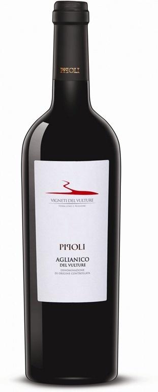 Pipoli Aglianico del Vulture D.O.C. 2009. Vino italiano elaborado con uva Aglianico. Un vino muy interesante, diferente.  Lo tienen en el restaurante nonsolocaffé.