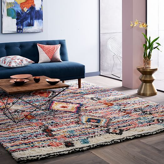 Charm Wool Rug Living Room