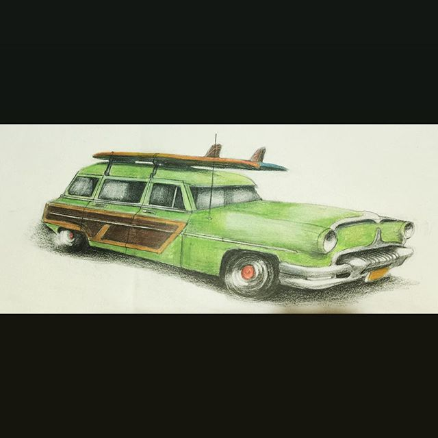 #surfwagon #prop #scketch #metatropolis #crayons  #paperwork by #edvardadesign