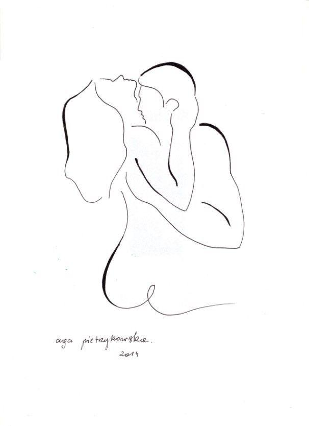 Agata Pietrzykowska, Spoznieni Kochankowie (2014)  #painting #art #artmarket #limitededition #artistoftheday #fineart #buyart #erotica #drawing #couple
