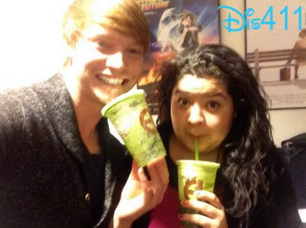 Raini Rodriguez And Calum Worthy Drinking Green Juice December 9, 2013