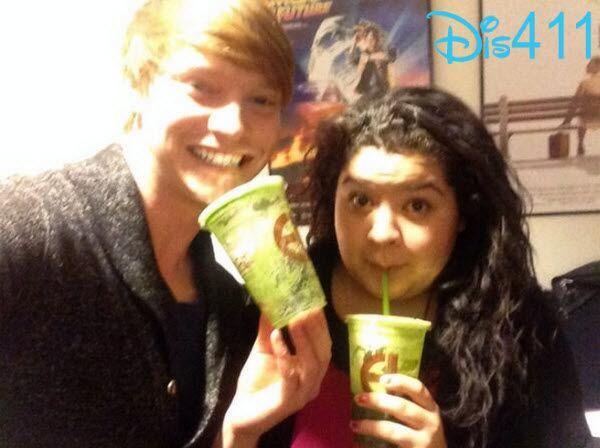 Raini Rodriguez And Calum Worthy Drinking Green Juice December 9, 2013