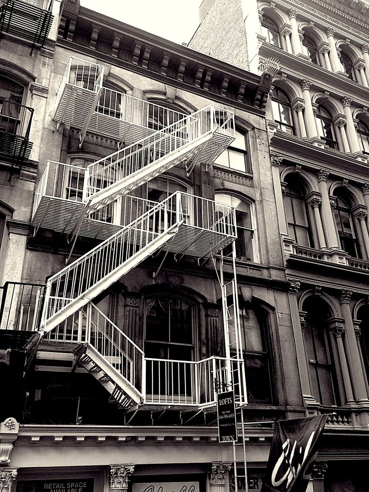 Manhattan with fire stairs