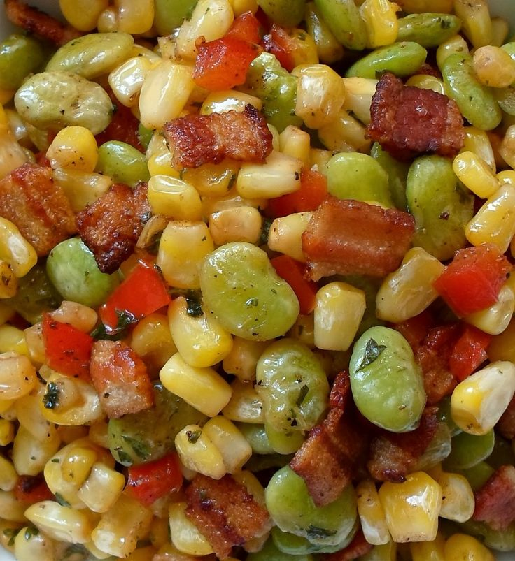 Succotash with Bacon and Vinegar