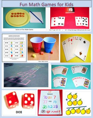 Ten Fun Math Games - Addition, Subtraction, Multiplication, Place Value