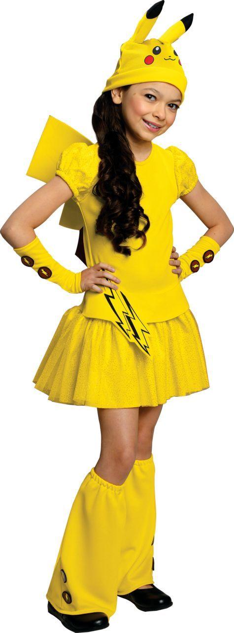 girls pikachu costume deluxe pokemon party city - Pikachu Halloween Costume Women