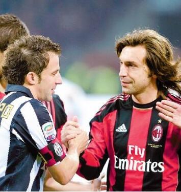 andrea Pirlo and alessandro Del Piero. two italian soccer legends