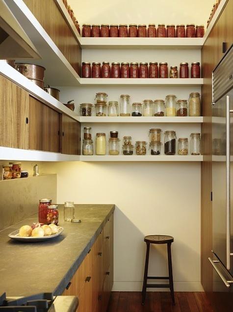 beautiful organized kitchen