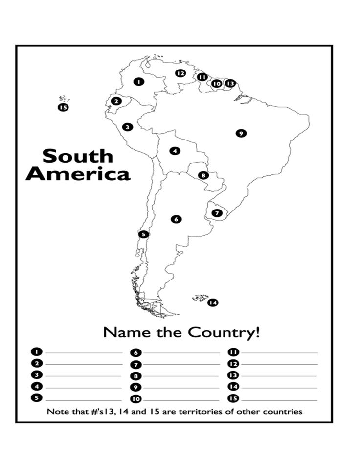 Page 1 South America Map Geography Pinterest South america