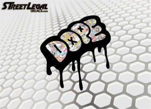 5'' JDM DOPE Vinyl Decal