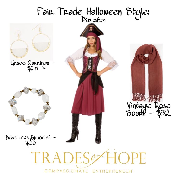 Fair Trade Halloween Trades of Hope Halloween Pirate Costume