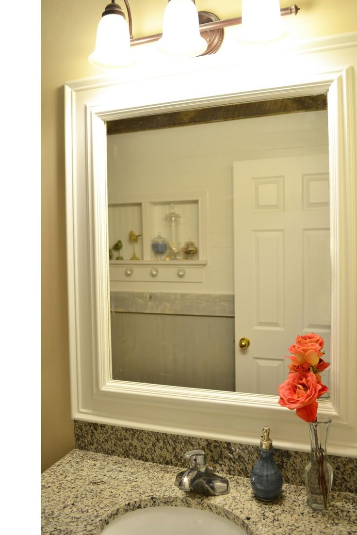 Trim around mirrors deck out my home what you can do - Pictures of bathroom mirrors ...