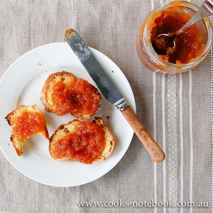 Childhood memories - homemade nectarine jam