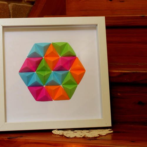 Geometric Wall Art - 'Colour Pop'