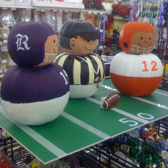 My fall football pumpkins..Going to try copying this. Looks simple enough!
