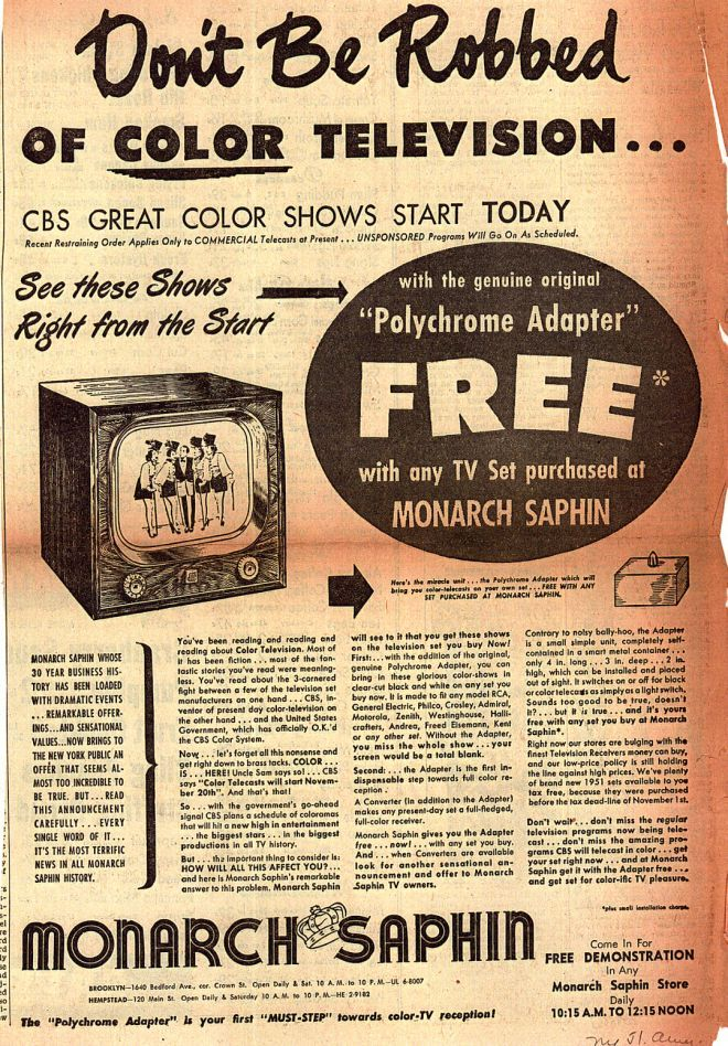 1950+tv | ... Color Television – Don't Be Robbed of COLOR TELEVISION (1950