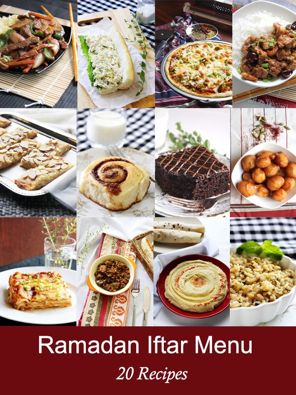 Ramadan Iftar Menu – 20 recipes