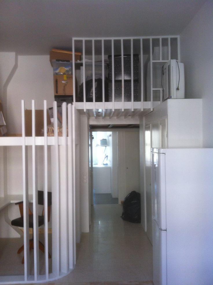 Studio apartment renovation, Stockholm. #interior #interiordesign #loft #apartment #compactliving #scandinaviandesign #dawnofideas