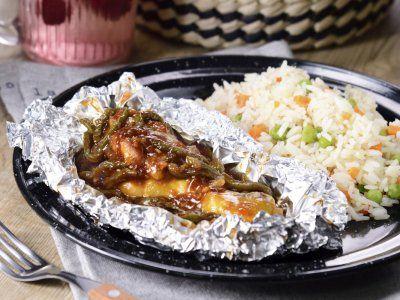 Receta de Mixiotes de Pollo a la BBQ