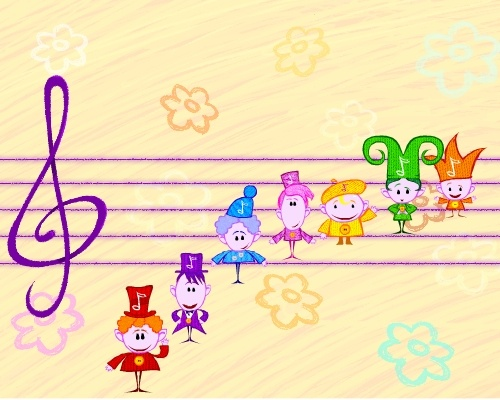 The Notekins are friendly little fellows that each represent one of the musical notes. Introduce your baby to music basics such as rhythm, tempo & more. www.BabyFirstTV.com