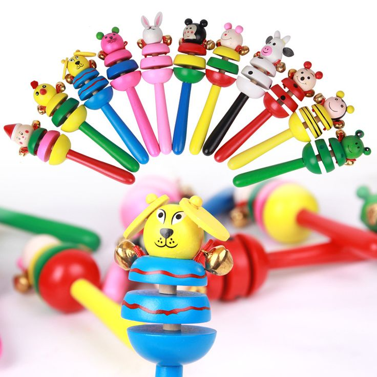 Exempt postage, fancy music toys, Section 3 a bell, bell wooden animals,gifts for children,wooden toy