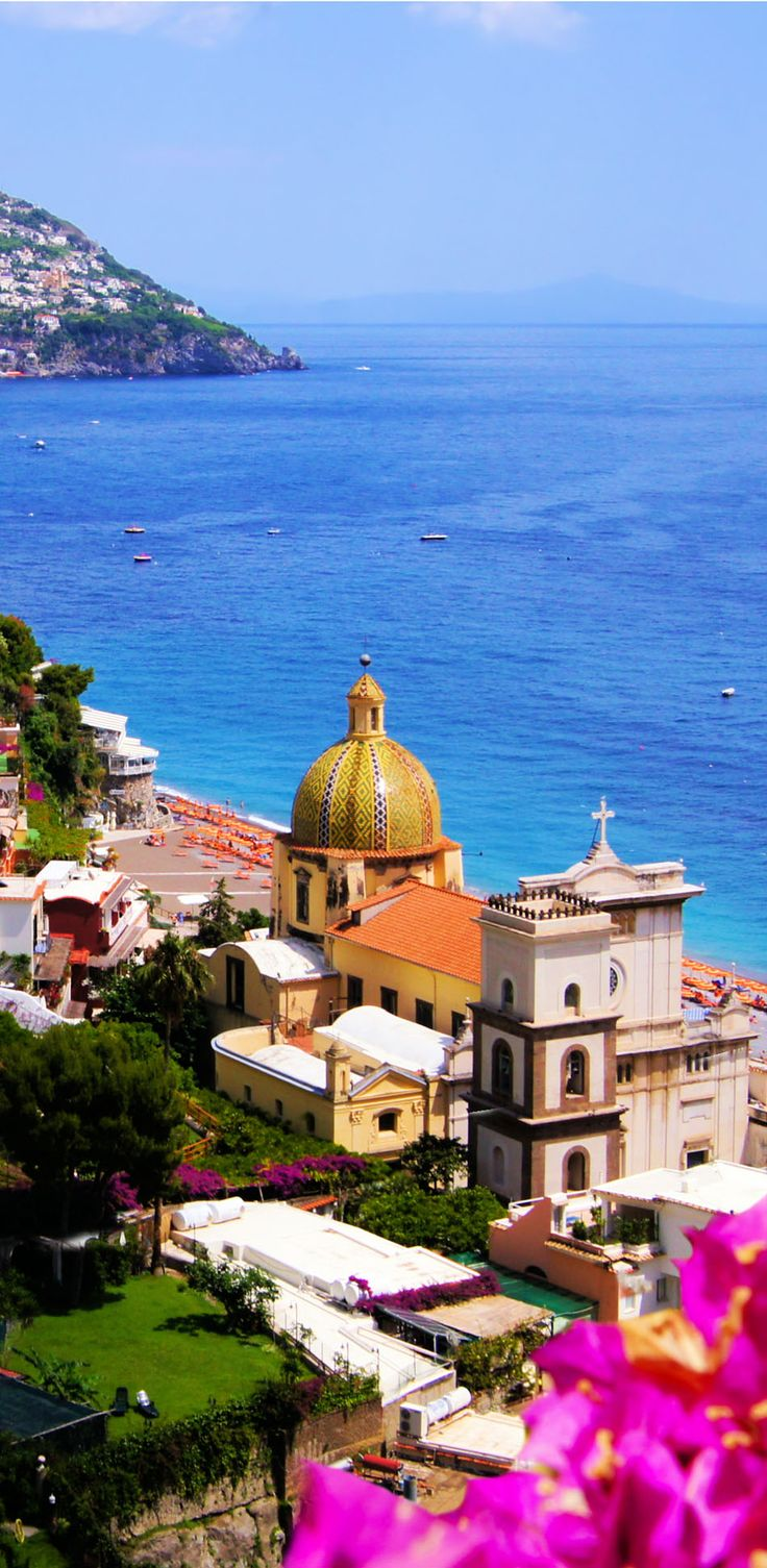 View of the town of Positan, Amalfi Coast, Italy