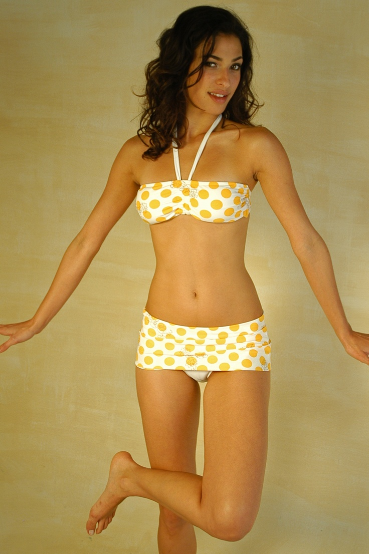 dots polka guess yello bikini