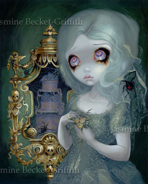 Jasmine Becket Griffith Art Print Signed Miss Havisham Gothic Bride Fairy Spider | eBay