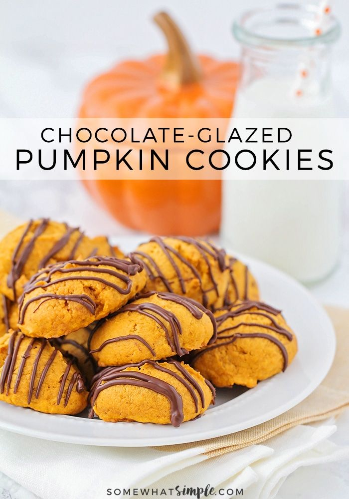 Grab a tall glass of milk and get ready for these super delicious, super easy pumpkin cookies!