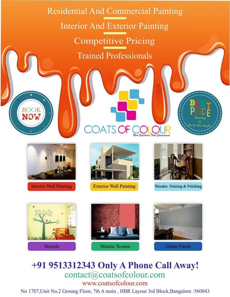 Coats of Colours is providing a best Painting Service in Bangalore for Residential And Commercial Painting,Where Quality Comes First. https://www.coatsofcolours.com/interior-painting/