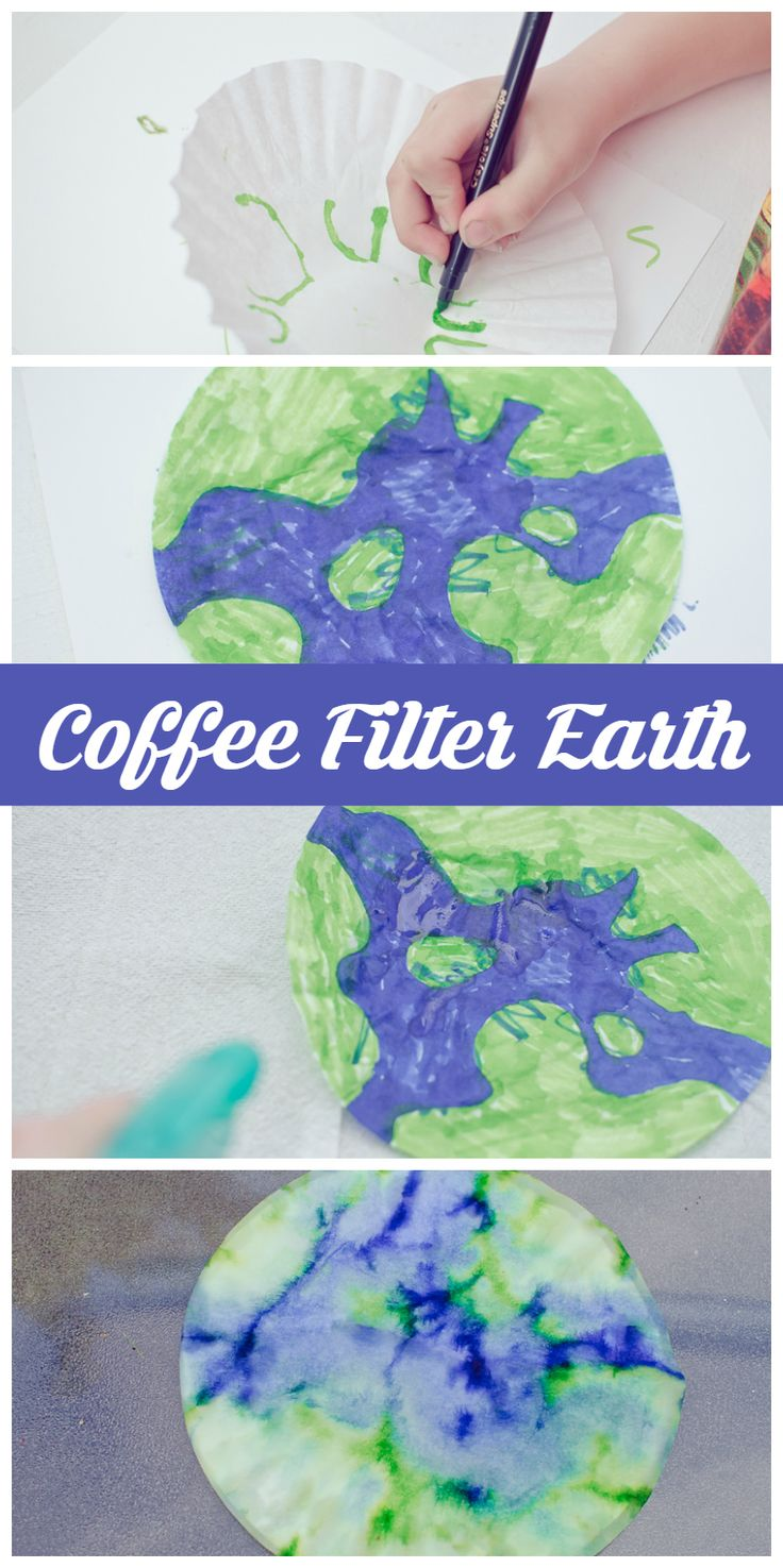 Celebrate Earth Day with a Coffee Filter Earth! Quick and