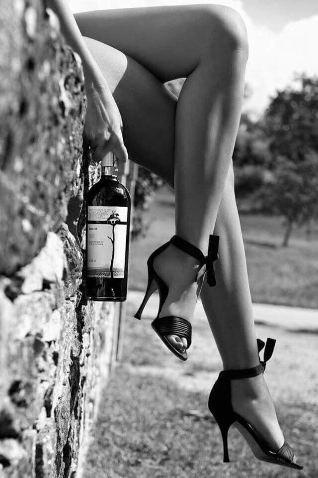 Schwarz-Weiß-sexy Bild