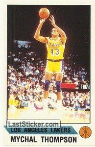 MYCHAL THOMPSON Los Angeles Lakers oltre che buon giocatore è  il padre dei giocatori di basket Klay Thompson e Mychel Thompson e il giocatore di baseball Trayce Thompson .