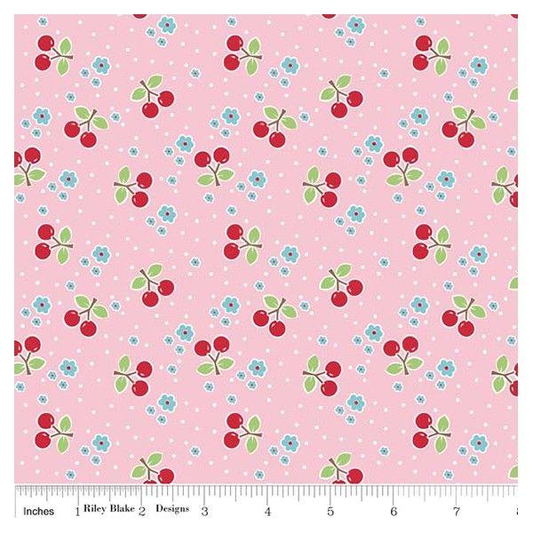 Tissu Bake Cherry Pink x 10cm