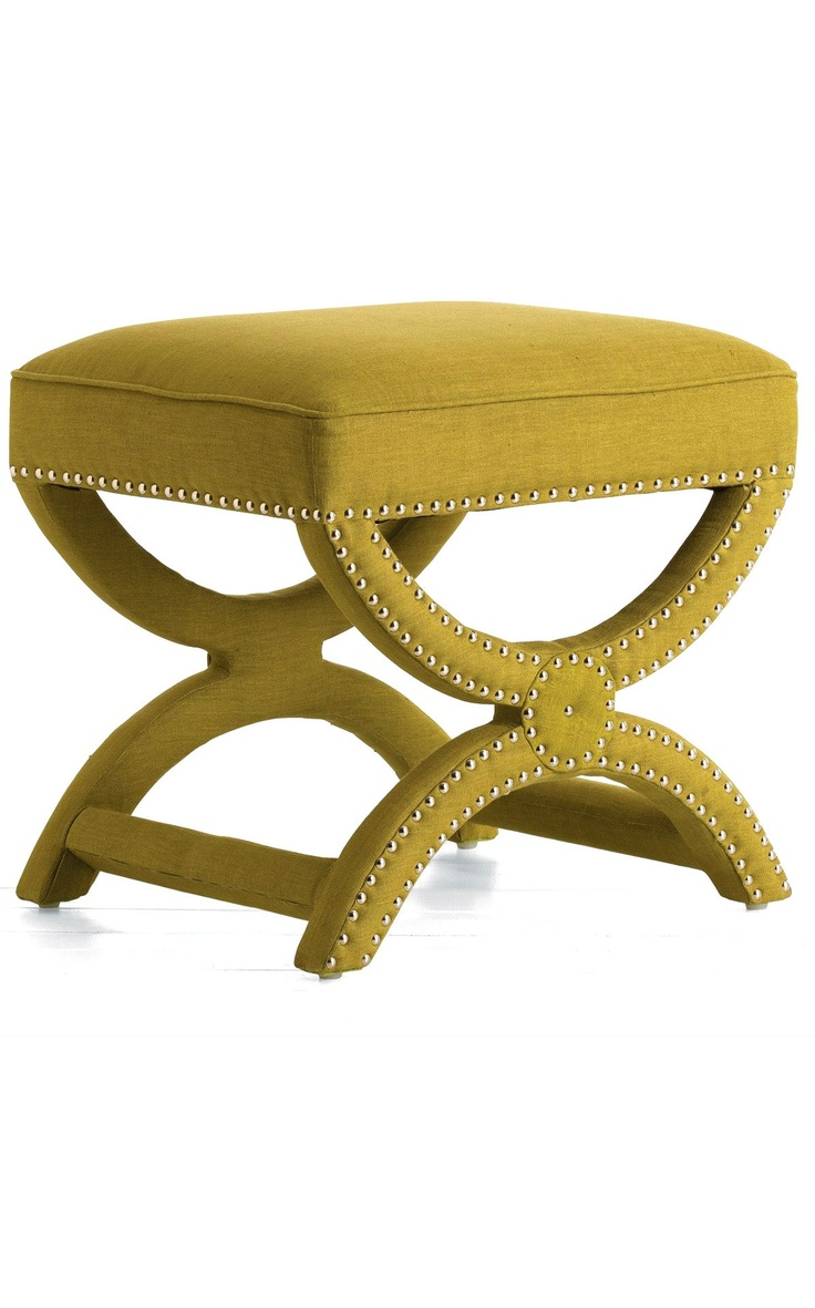 Benches & Stools, Designer Green Linen Dressing Table Stool, one of over 3,000 limited production interior design inspirations inc, furniture, lighting, mirrors, tabletop accents and gift ideas to enjoy repin and share at InStyle Decor Beverly Hills Hollywood Luxury Home Decor enjoy & happy pinning